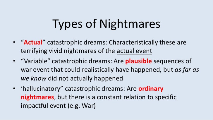 Types Of Nightmares And How To Deal With Them
