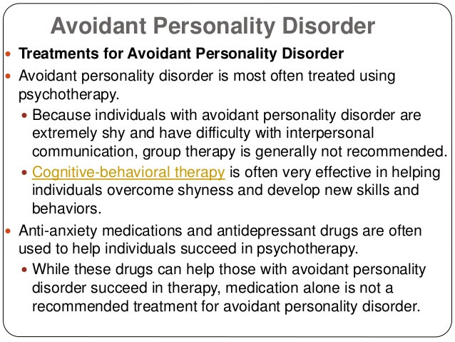 How To Deal With Someone With Avoidant Personality Disorder